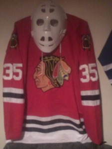 NHL Hockey Goalie Helmet MASK CHICAGO BLACKHAWKS TONNY ESPOSITO