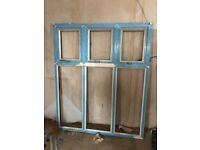 2 x upvc window frames 142cm x 173cm (no glass)