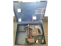 Hammer drill, Bosch GBH 24 volt with SDS chuck, case and charger