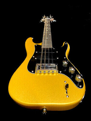 NEW 8 string MANDOCASTER STYLE PRO GOLDEN FINISH ELECTRIC SOLID BODY MANDOLIN
