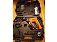 Worx 12v Lithium-Ion Cordless Power Tools (SDS & Drill-Driver) + Extras *ALL NEW/NEARLY NEW*