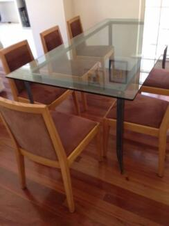 Stylish Coco Republic Glass Dining Table - 8 seater