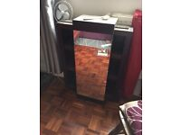 Mahogany style cabinet/cupboard with mirror - perfect for living room or bathroom