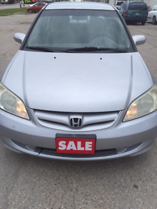 2005 Honda Civic Brand New Safety,Private Sale