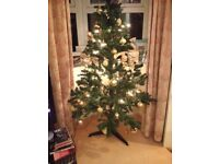 Christmas Tree inc lights & all decorations in photo