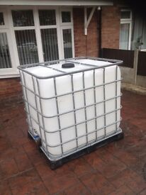 Water Tank 1000 gallons Ideal for jet washing and windows cleaner