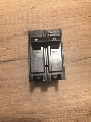 Cutler Hammer Br260 60amp 2-pole Plug-in Circuit Breaker
