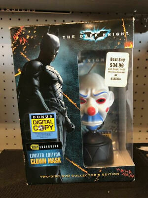 The Dark Knight Collector's Edition with Clown Mask (2 DVDs) NEW  (Dark Knight Clown Mask)
