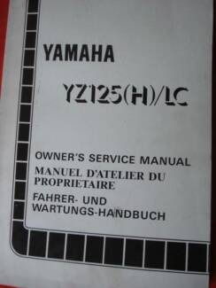 YAMAHA YZ125(H)/LC FACTORY WORKSHOP SERVICE MANUAL c1995 Dianella Stirling Area Preview