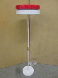 TOP QUALITY WHITE METAL FLOOR STANDING DOUBLE LAMP WITH BLACK TOP BRAND NEW IN BOX