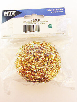 Ecg Ja-50-b Replacement Brass Mesh Ball For Ecg Ja-50 Solder Iron Stand - New