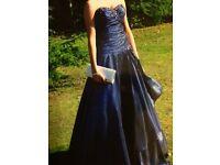 Evening Dress or Prom Dress Midnight Blue, Size 6