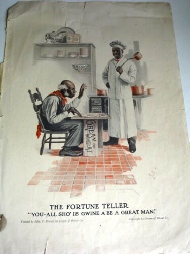 Vintage 1914 CREAM OF WHEAT AD - THE FORTUNE TELLER - EDW. V. BREWER