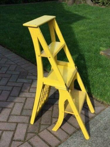 Vintage c.1940's Antique Ben Franklin Step Ladder Chair