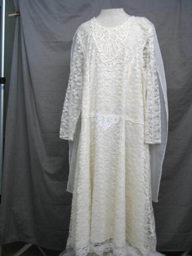1920s Dress Great Gatsby Titanic Style Mother of the Bride Gown Antique White
