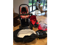 iCANDY Apple Jogger Travel System - Carrycot, Buggy and Maxicosi newborn carseat & base