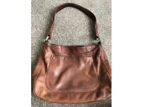 Tan Brown soft Leather Osprey Ladies handbag bag