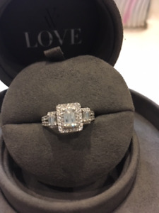 WOW WHAT A DEAL FOR THIS 1.30CT VERA WANG RING (NO SHIPPING )