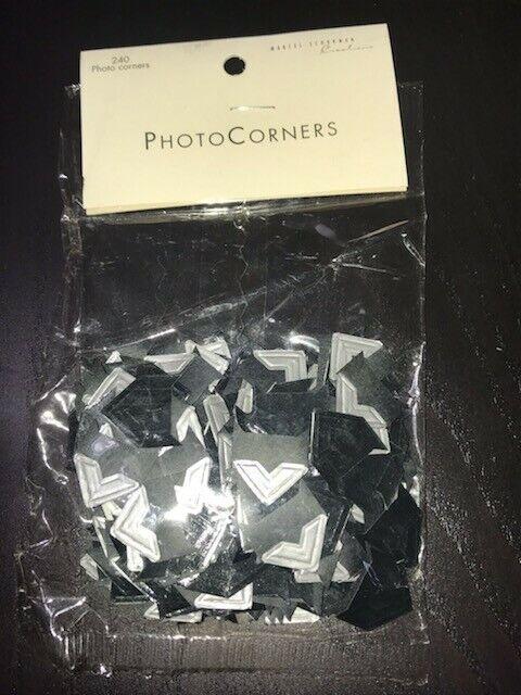 "Marcel Schurman 240 pc ""Photo Corners"" Acid Free"" - black/gray (Qty=4 packs)"