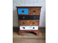 Superb Vintage Antique Mahogany Inlaid Chest of Drawers/Bedside Cabinet Restored
