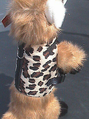 Small Animal Harness with Buckle Clips - Leopard  - Dog, Cat, Monkey