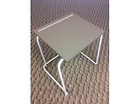 6 grey exam or training stackable desks