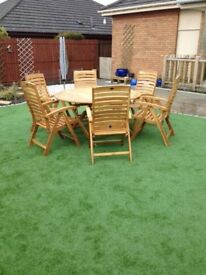 Garden Oak Table & Chairs