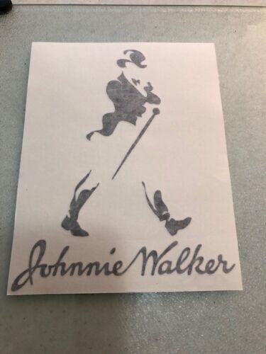 JOHNNIE WALKER - VINYL STICKER - IN BLACK - NEW