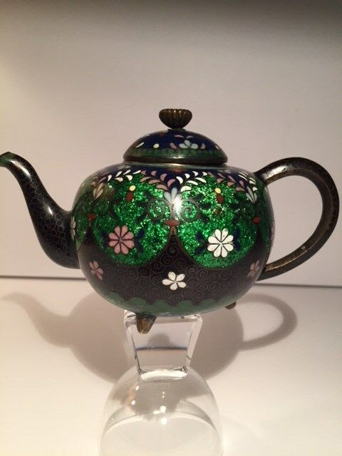 Antique Japanese Meiji Period Cloisonne Teapot