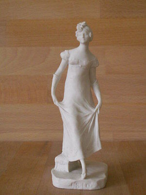 ART NOUVEAU SEVRES BISQUE PORCELAIN FIGURE OF A YOUNG FEMALE SIGNED C 1911