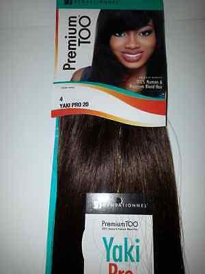 PREMIUM TOO YAKI PRO 100% HUMAN HAIR & PREMIUM BLEND WEAVE;