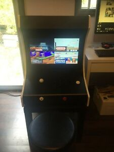 bar top arcade cabinet with 7500 games pcb board installed