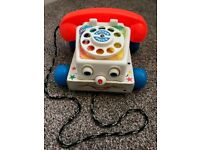 Fisher-Price Wooden Chatter Telephone (worth £15 new in John Lewis)