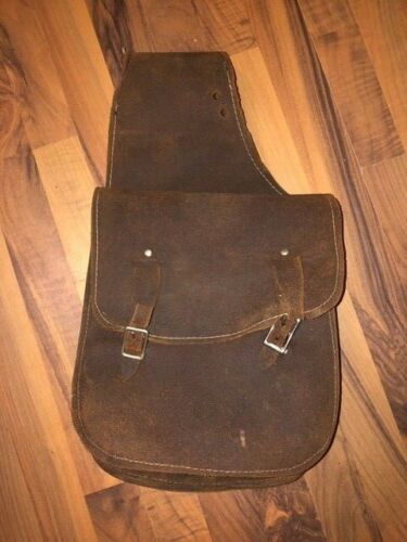 ROUGHOUT LEATHER SADDLE BAGS 10