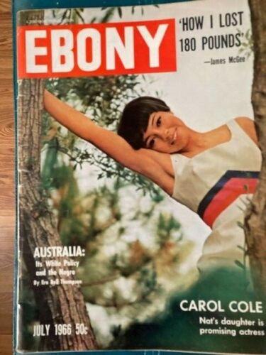 Vintage Ebony Magazine Jul 1966 Carol Cole - Daughter of Nat King Cole