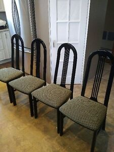 Black Lacquer Dining Chairs