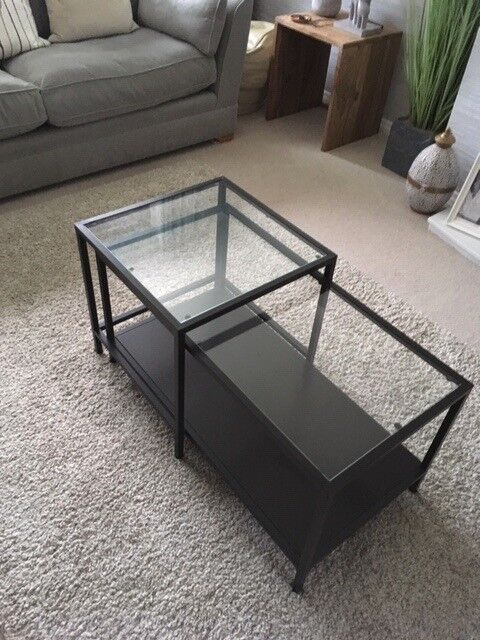 Amazing Ikea Glass Coffee Table With Slide Over Side Table As New Only 15 Buyer Uplifts In Dalkeith Midlothian Gumtree Lamtechconsult Wood Chair Design Ideas Lamtechconsultcom