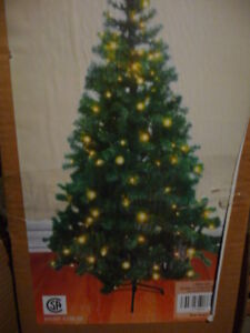 Christmas Trees 4, 5 & 6 Feet, with lights  Selling the 4 ft Phi