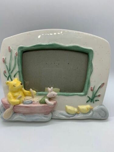 Winnie The Pooh & Piglet In A Rowboat Porcelain Picture Frame Nursery Charpente