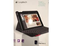 Logitech Type + - Protective case (Royal blue) with integrated keyboard-iPad Air 2. GBP 45
