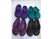 Crocs – 4 pairs (sizes 4 and 5)