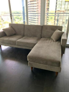 Modern grey sofa in excellent condition