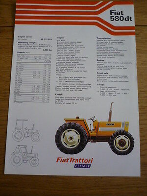 FIAT 580 dt TRACTOR  Brochure jm