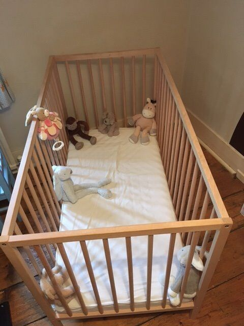 Ikea Sniglar Cot with Vyssa mattressin Sevenoaks, KentGumtree - Ikea Sniglar cot with mattress VGC with instructions 2 height levels. toys not included