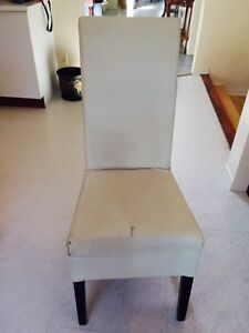 4 Leather Kitchen Chairs