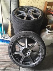 Core Racing Rims W/ new tires