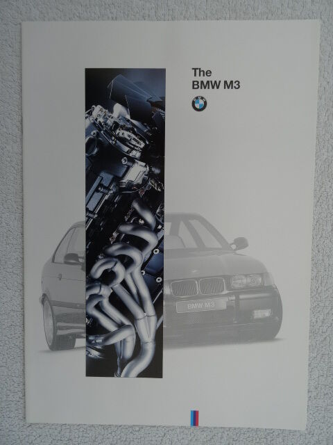 BMW M3 Coupe & Convertible brochure 1995. E36. Specifications/Colours/Equipment