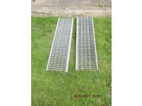 Heavy galvanise ladders.46 inches L 12/13 inches W