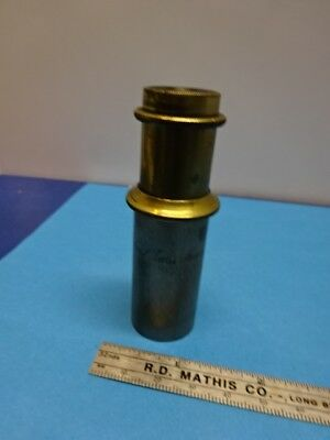 Antique Very Rare Brass Carl Zeiss Eyepiece Ocular Microscope Part As Is 90-15