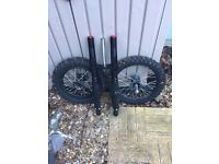 STOMP CRF 50 WHEELS AND FORKS